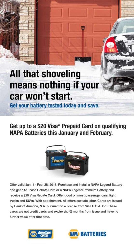 Save on a new NAPA Battery