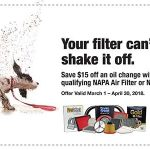 Save $15 on your next Oil Change