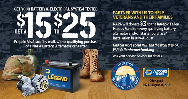 Money back on Batteries, alternators, starters