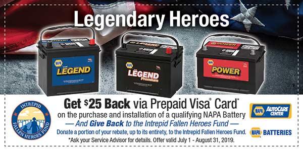 $25 back on car battery