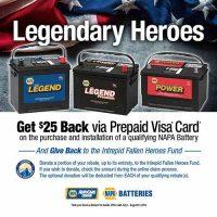 NAPA Batteries on sale