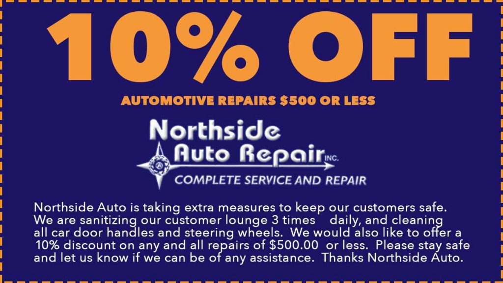 Save 10% off your auto repair at Northside